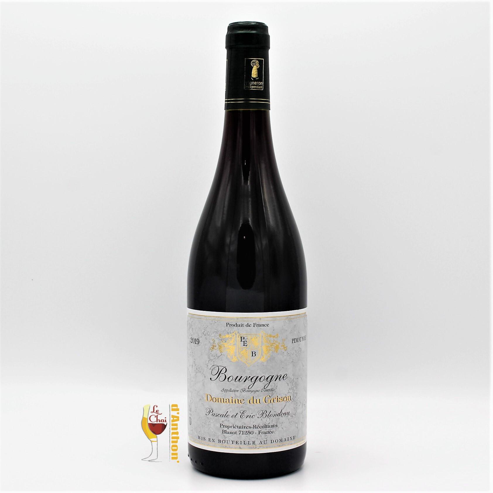 Le Chai D&650.JPG039;Anthon Vin Bouteille Rouge Bourgogne Pinot Noir Grison 75cl 650