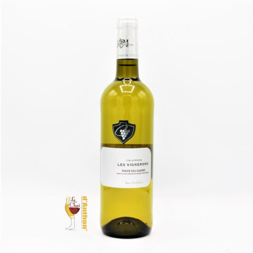 Le Chai D&701.JPG039;Anthon Vin Blanc Bouteille Languedoc Igp Gard Calvisson 75cl 701