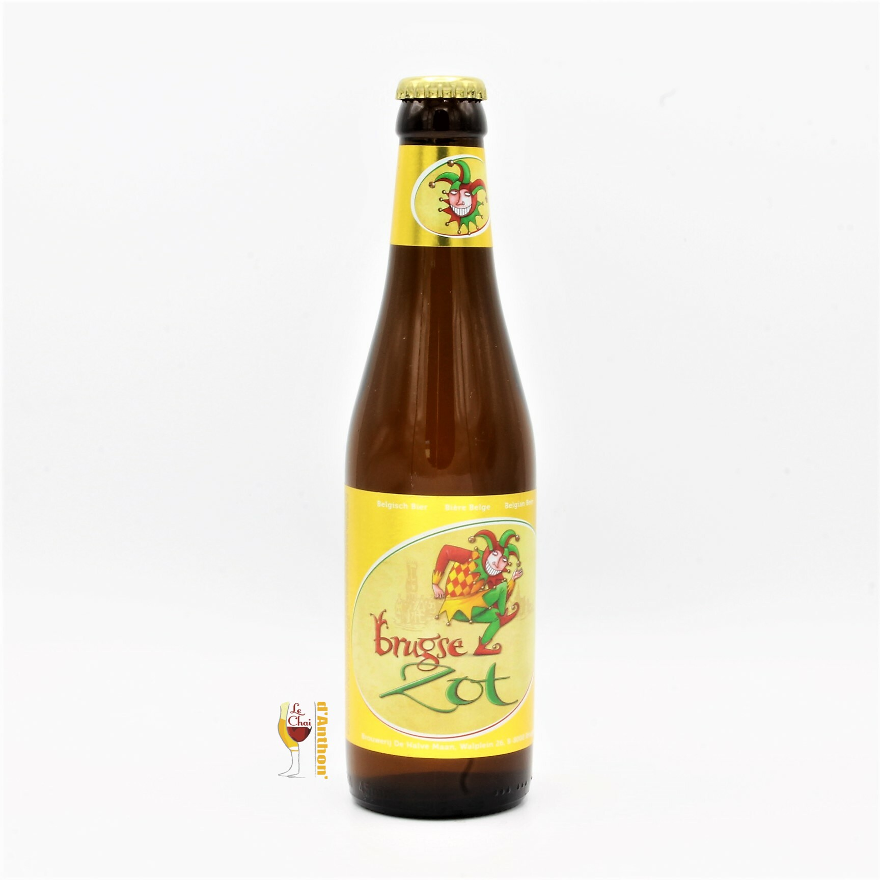 Le Chai D&765.JPG039;Anthon Biere Bouteille Blonde Brasserie De Halve Maan Brugse Zot Belge 33cl 765