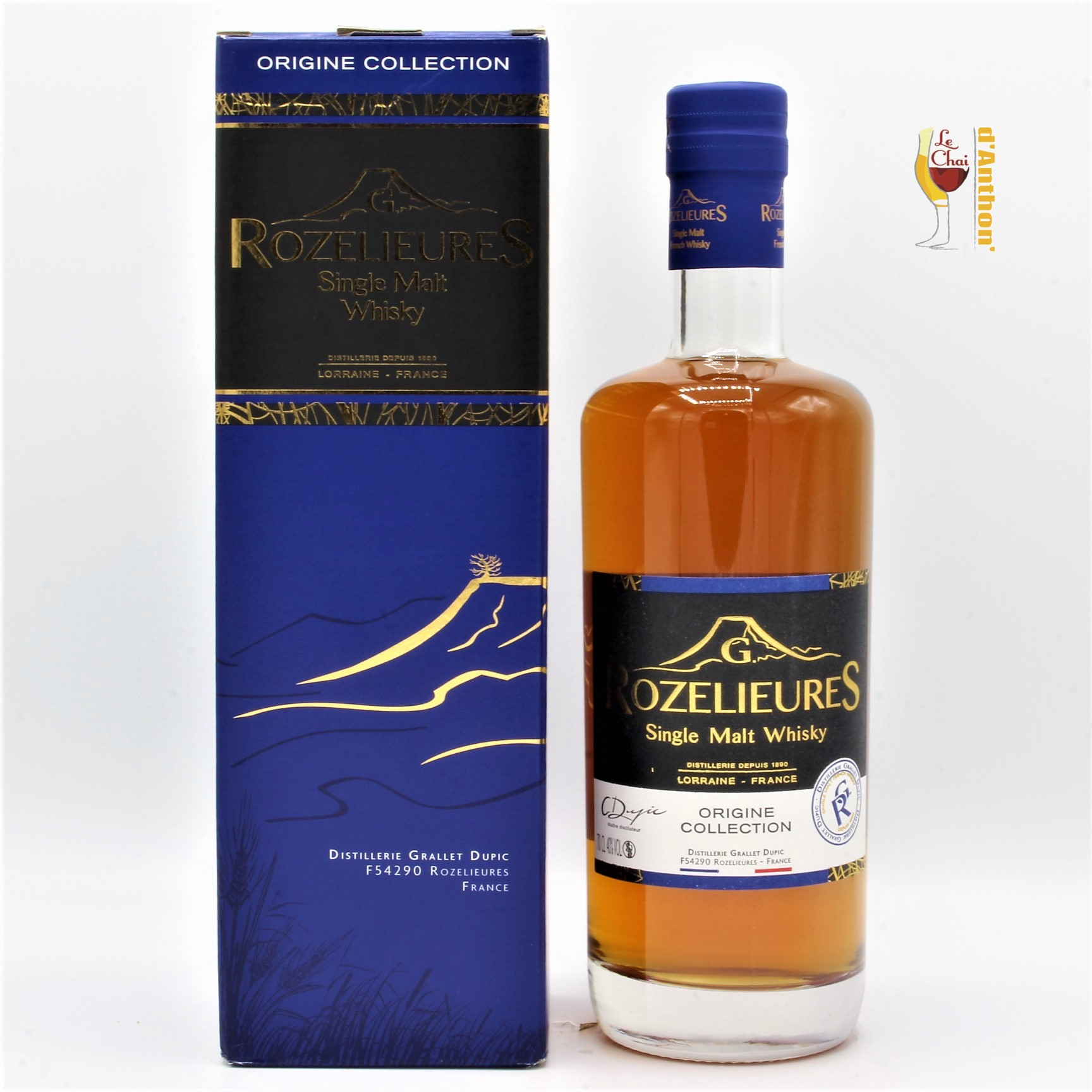 Le Chai D&905.JPG039;Anthon Spiritueux Whiskies Francais Single Malt Rozelieures Origine 70cl 905