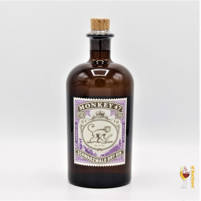 Le Chai D&950.JPG039;Anthon Spiritueux Gin Allemand Black Forest Monkey 47 50cl 950