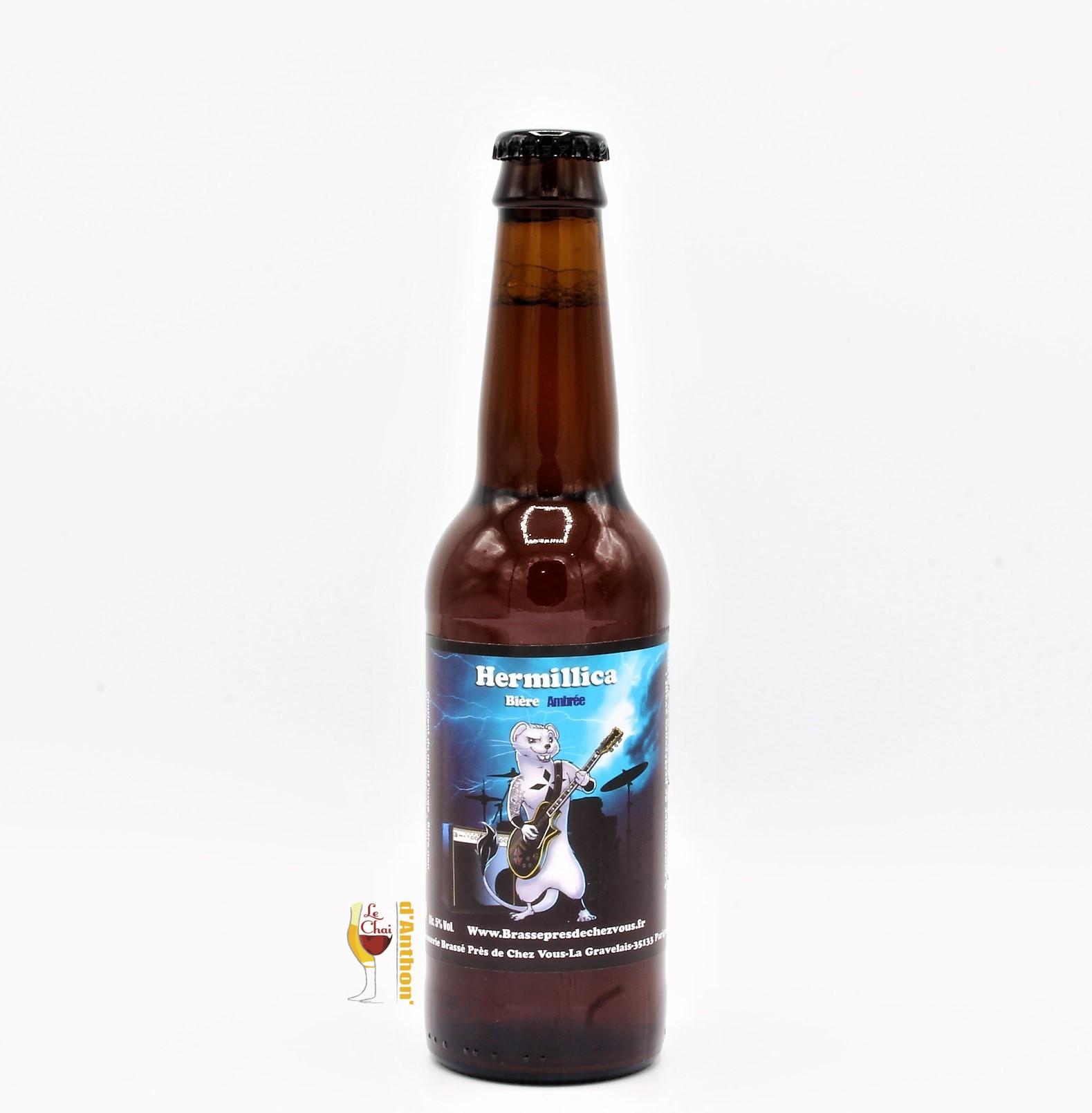 Biere Bouteille Ambree C Est Brasse Pres De Chez Vous Hermillica Bretonne 33cl
