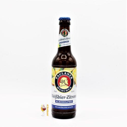 Biere Bouteille Blanche Aromatisee Brasserie Paulaner Citron Allemande 33cl
