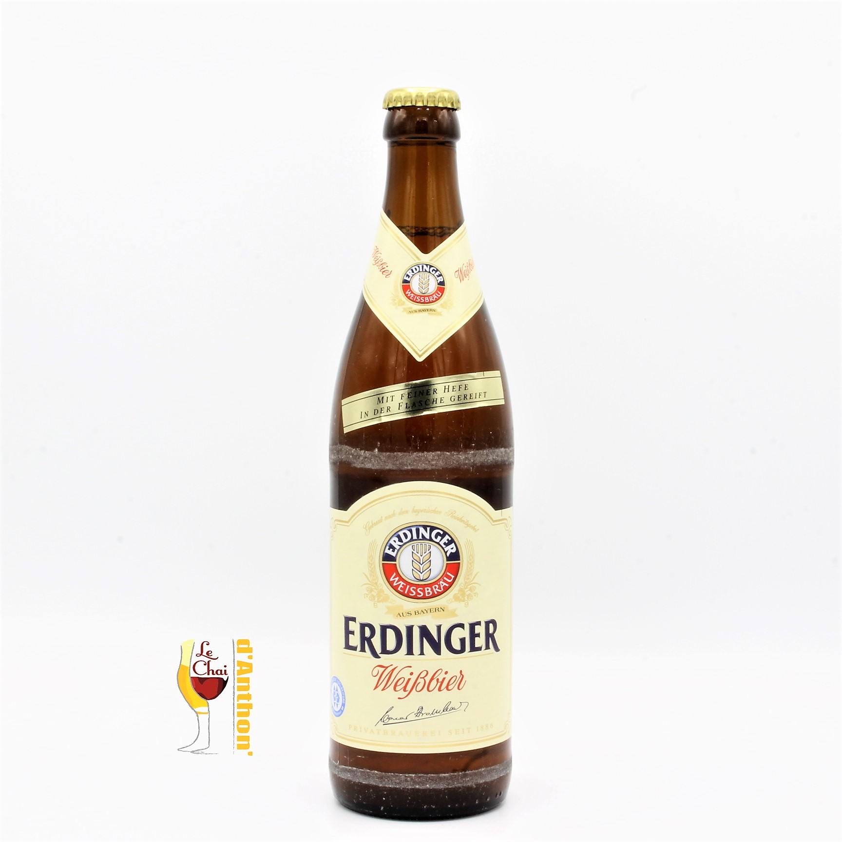 Biere Bouteille Blanche Brasserie Erdinger Weiss Hell Allemande 50cl