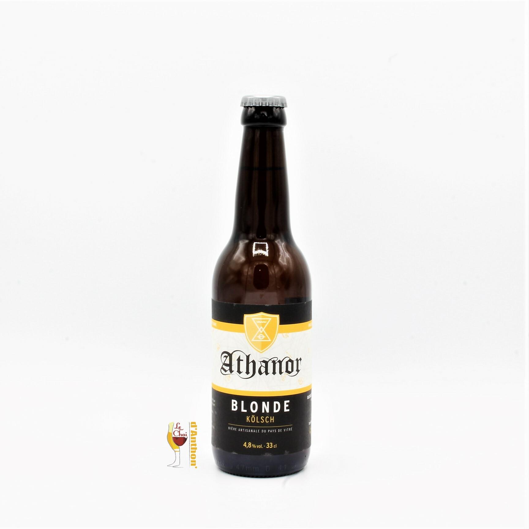 Biere Bouteille Blonde Brasserie Athanor Bretonne 33cl