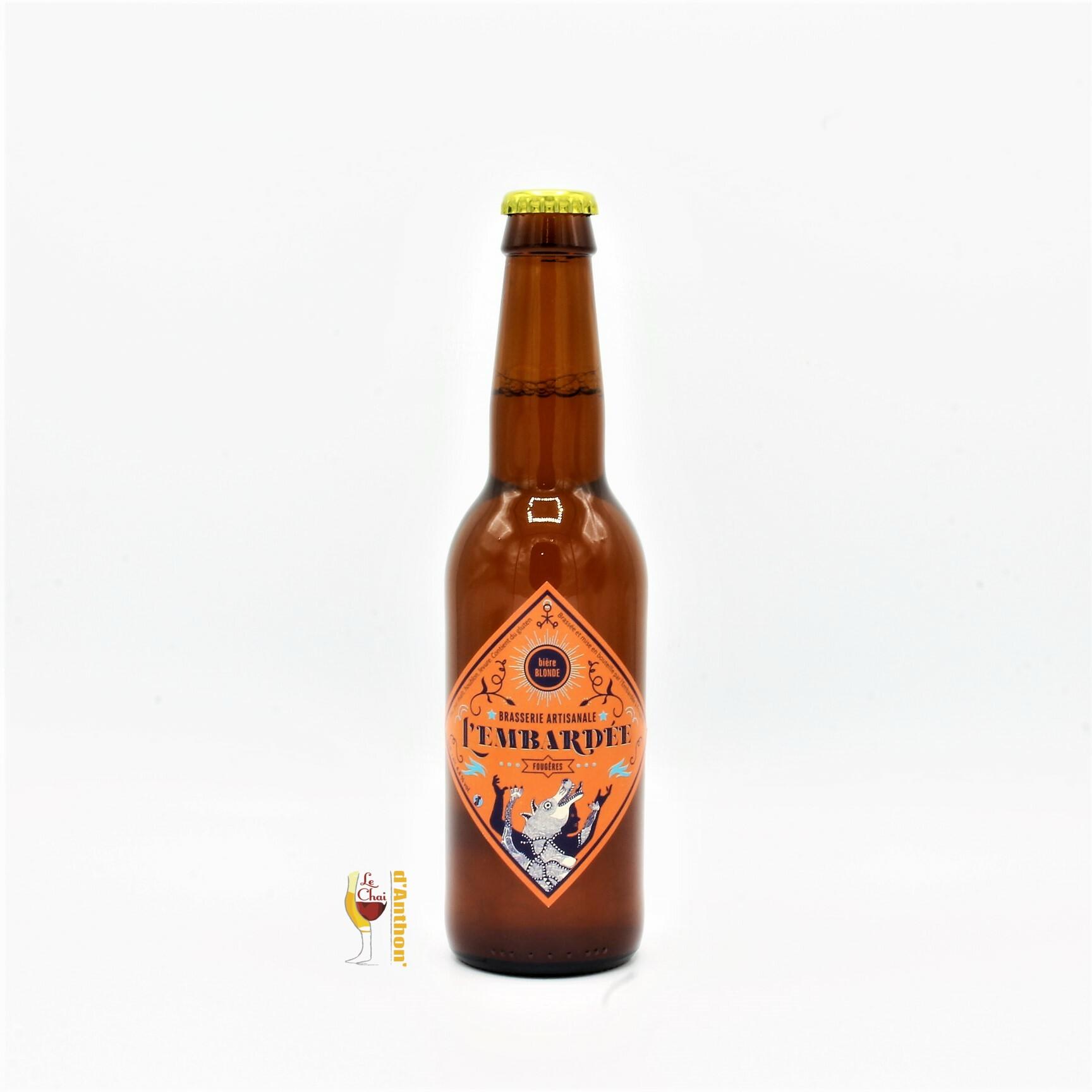 Biere Bouteille Blonde Brasserie Embardee Bretonne 33cl