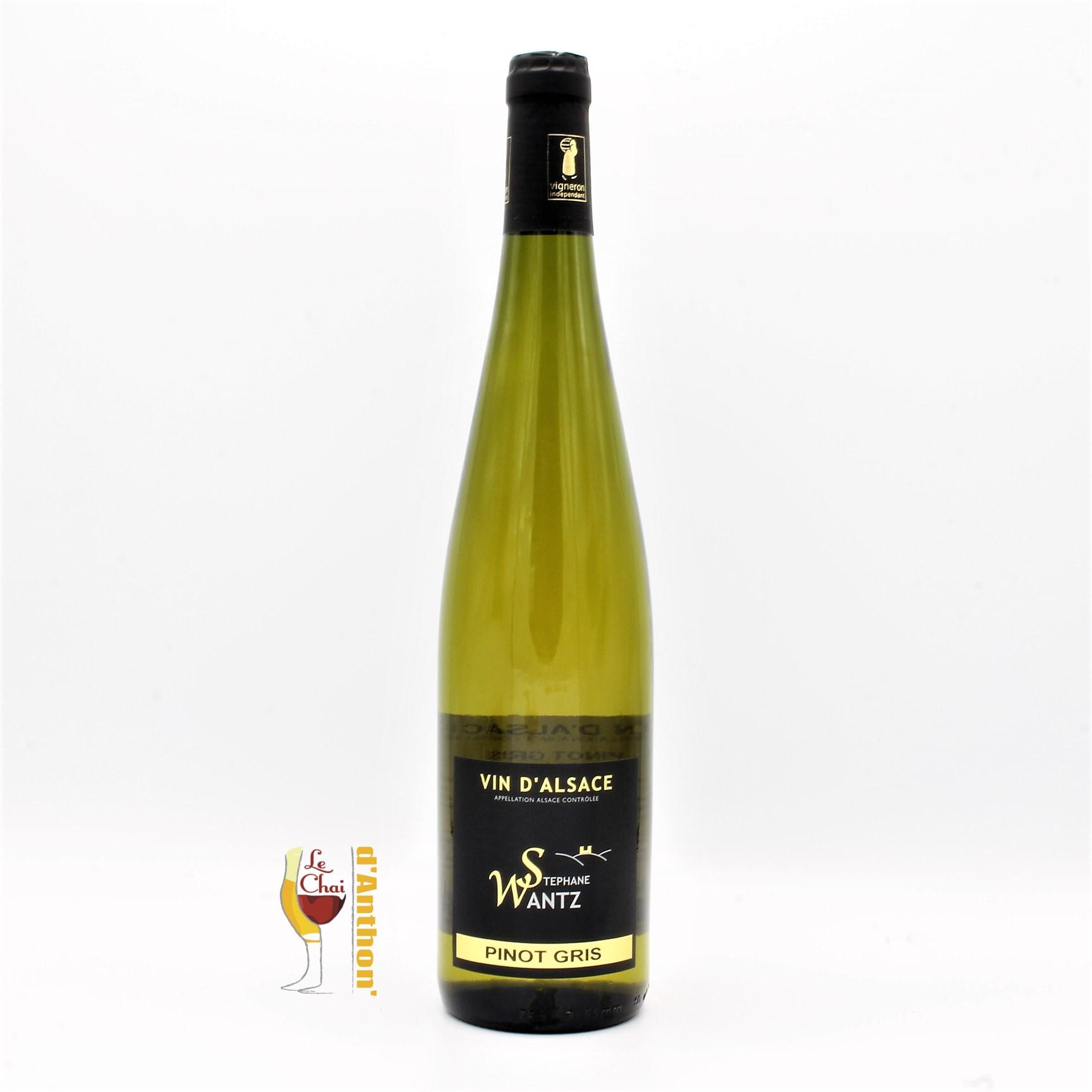 Vin Blanc Bouteille Alsace Pinot Gris Wantz 75cl