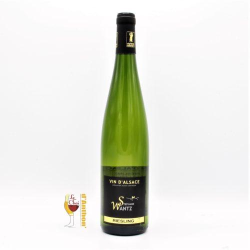 Vin Blanc Bouteille Alsace Riesling Les Chenes Wantz 75cl