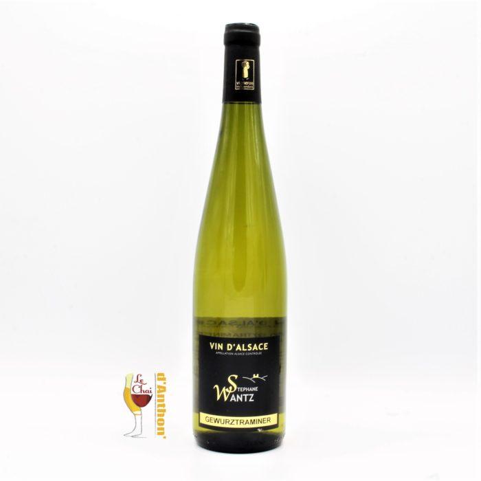 Vin Blanc Bouteille Aslace Gewurztraminer Terres Rouges Wantz 75cl