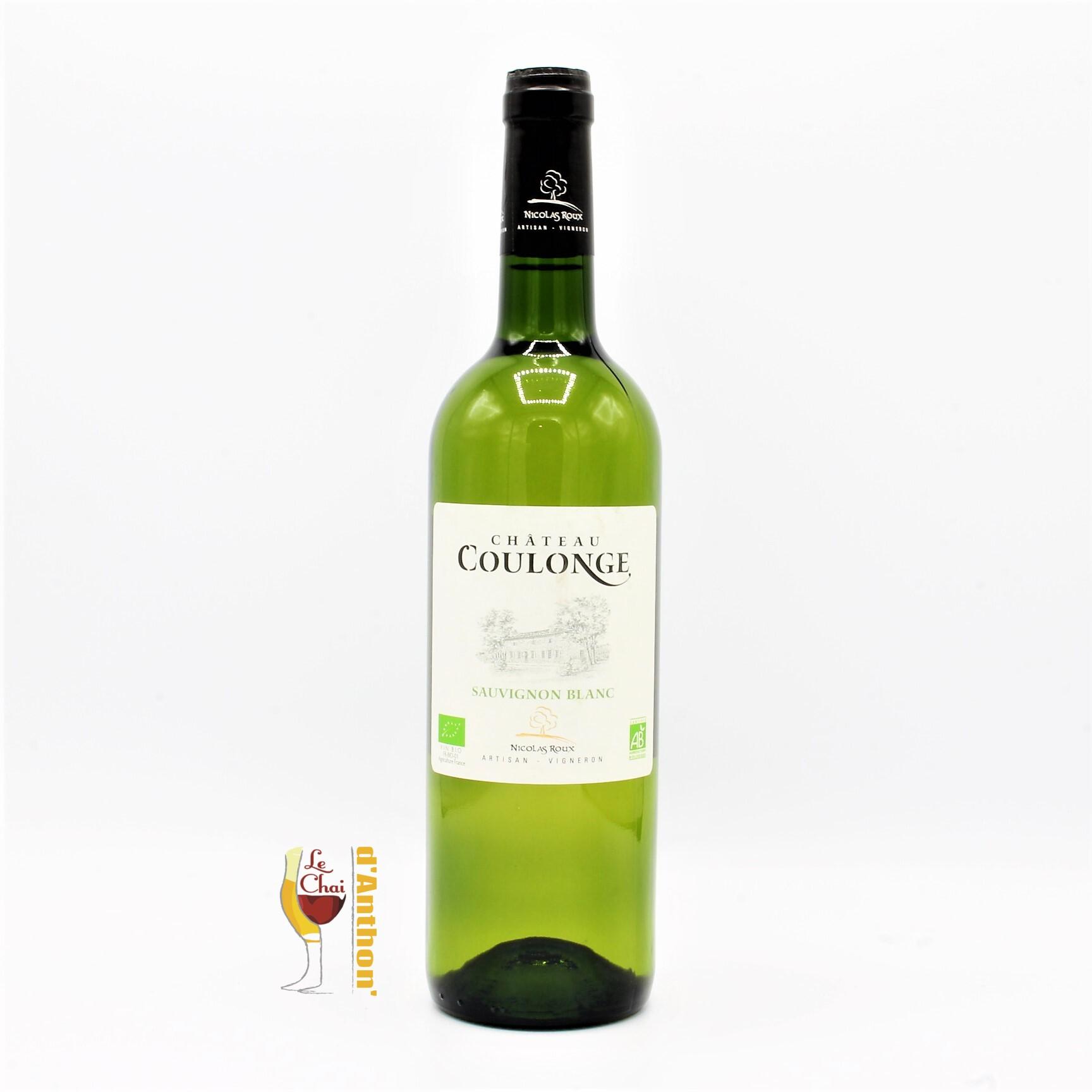 Vin Blanc Bouteille Bordeaux Coulonges 75cl