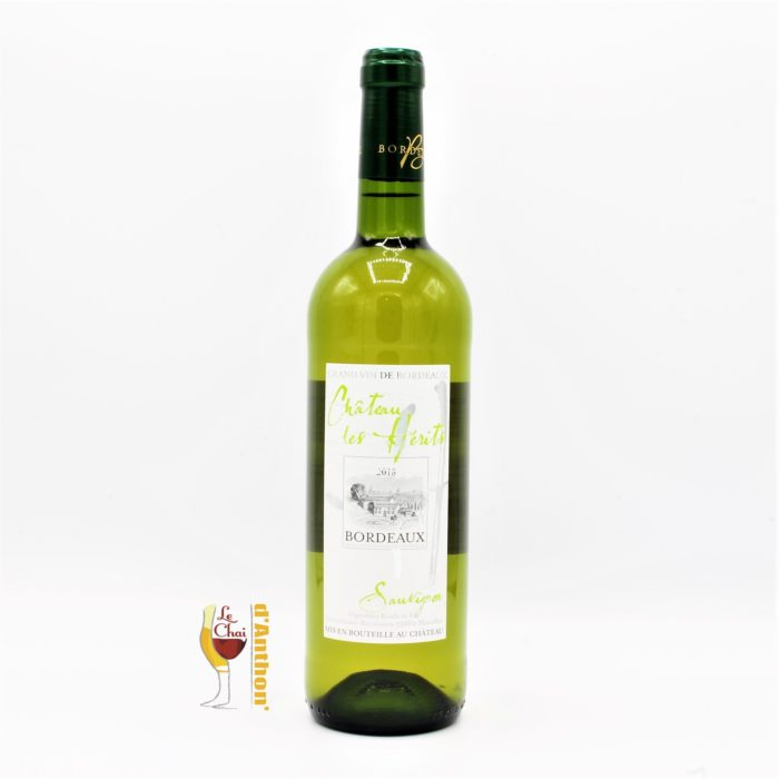Vin Blanc Bouteille Bordeaux Les Herits 75cl