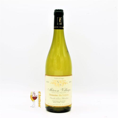 Vin Blanc Bouteille Bourgogne Macon Grison 75cl