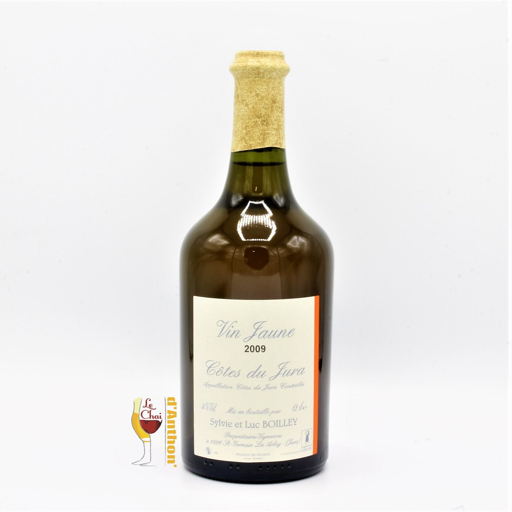 Vin Blanc Bouteille Jura Jaune Boilley 2009 62cl