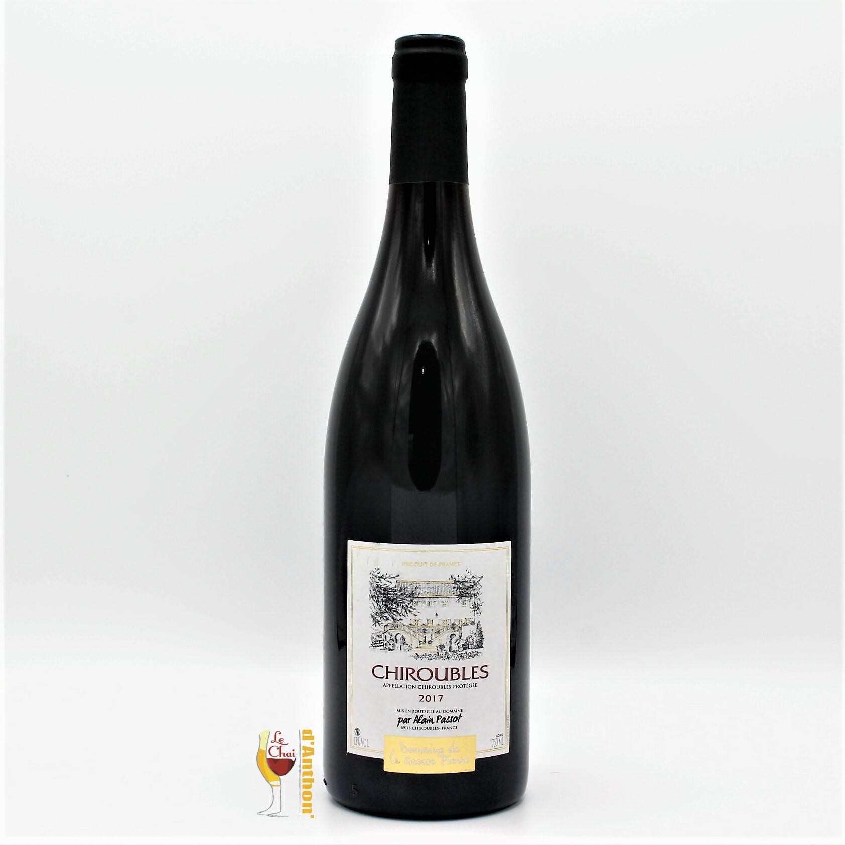 Vin Bouteille Rouge Beaujolais Chiroubles Passot 75cl