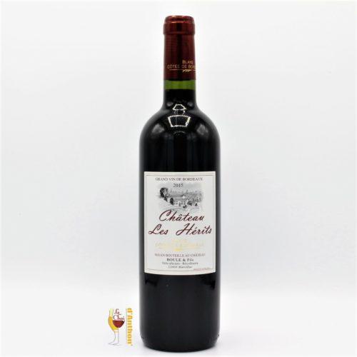 Vin Bouteille Rouge Bordeaux Blaye Cotes De Bordeaux Les Herits 75cl