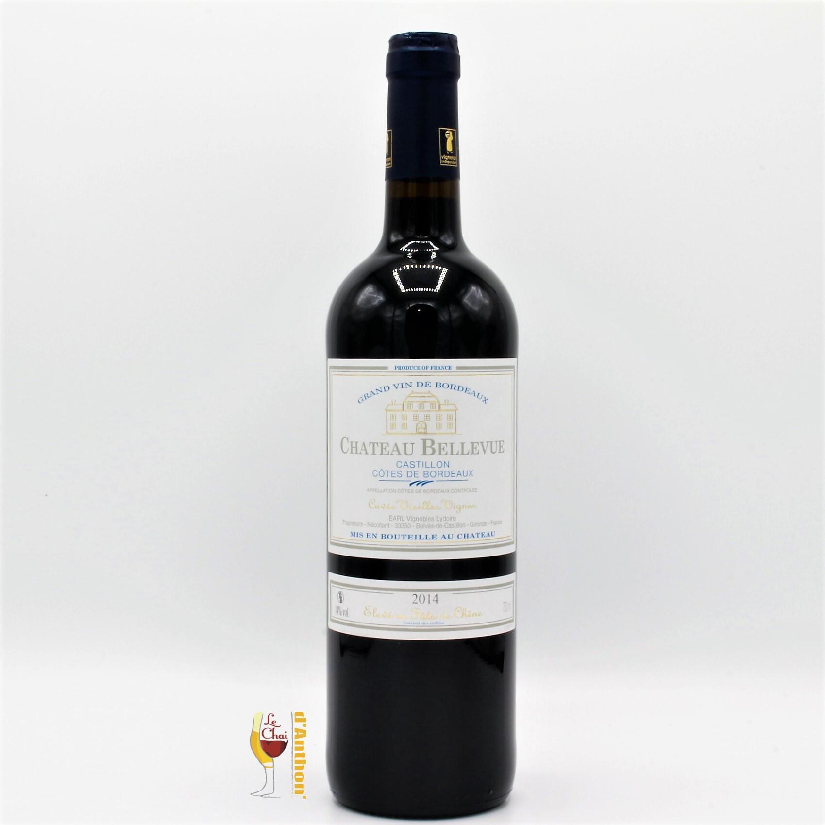 Vin Bouteille Rouge Bordeaux Castillon Cotes De Bordeaux Vieilles Vignes Bellevue 75cl