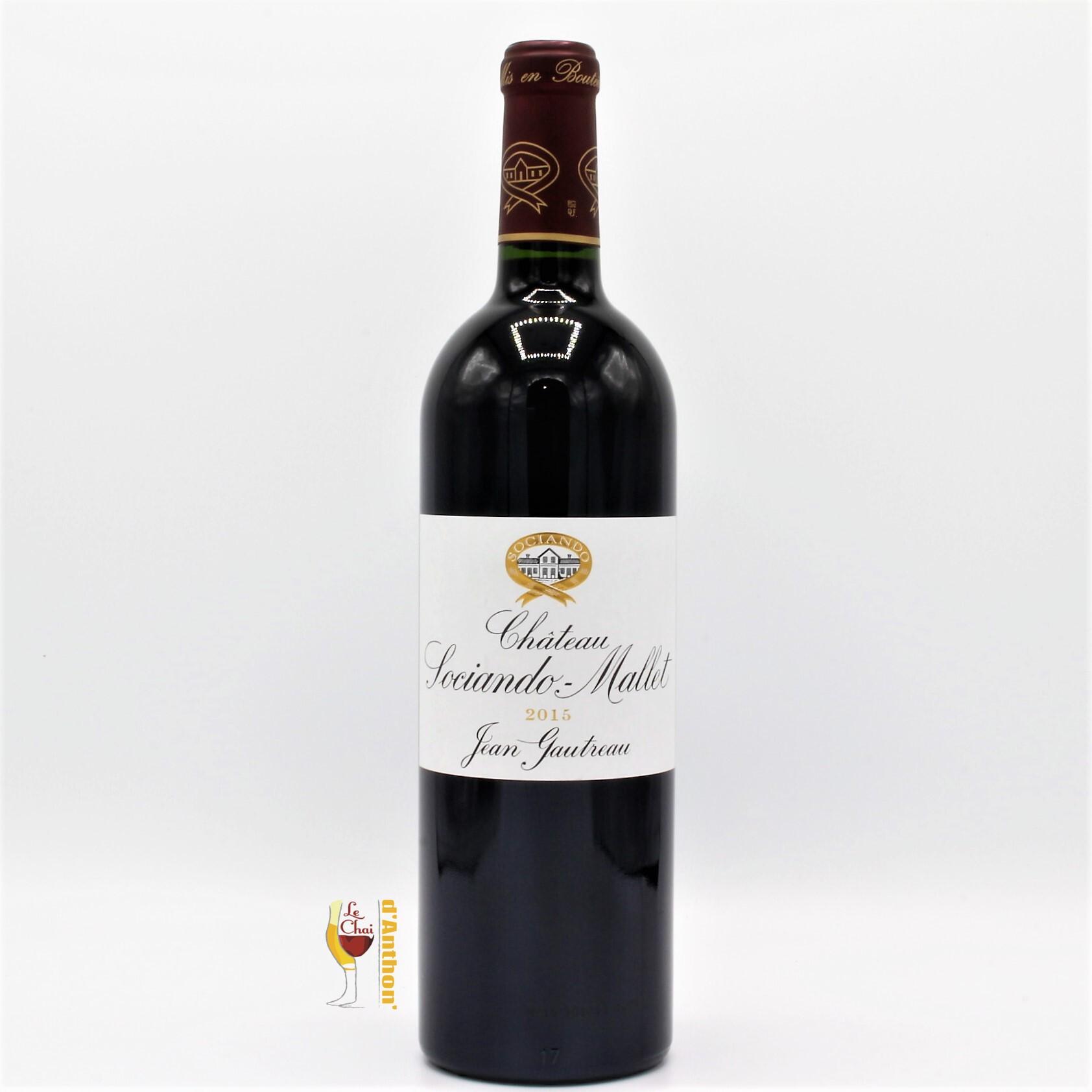 Vin Bouteille Rouge Bordeaux Haut Medoc Sociando Mallet 2015 75cl