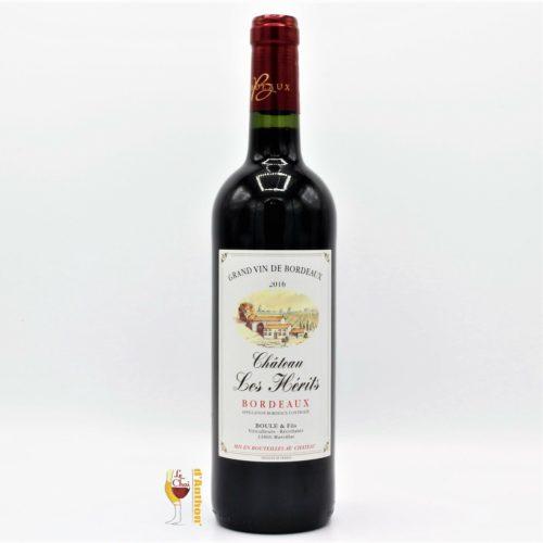Vin Bouteille Rouge Bordeaux Les Herits 75cl