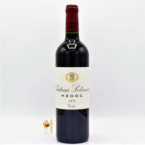Vin Bouteille Rouge Bordeaux Medoc Potensac 2015 75cl