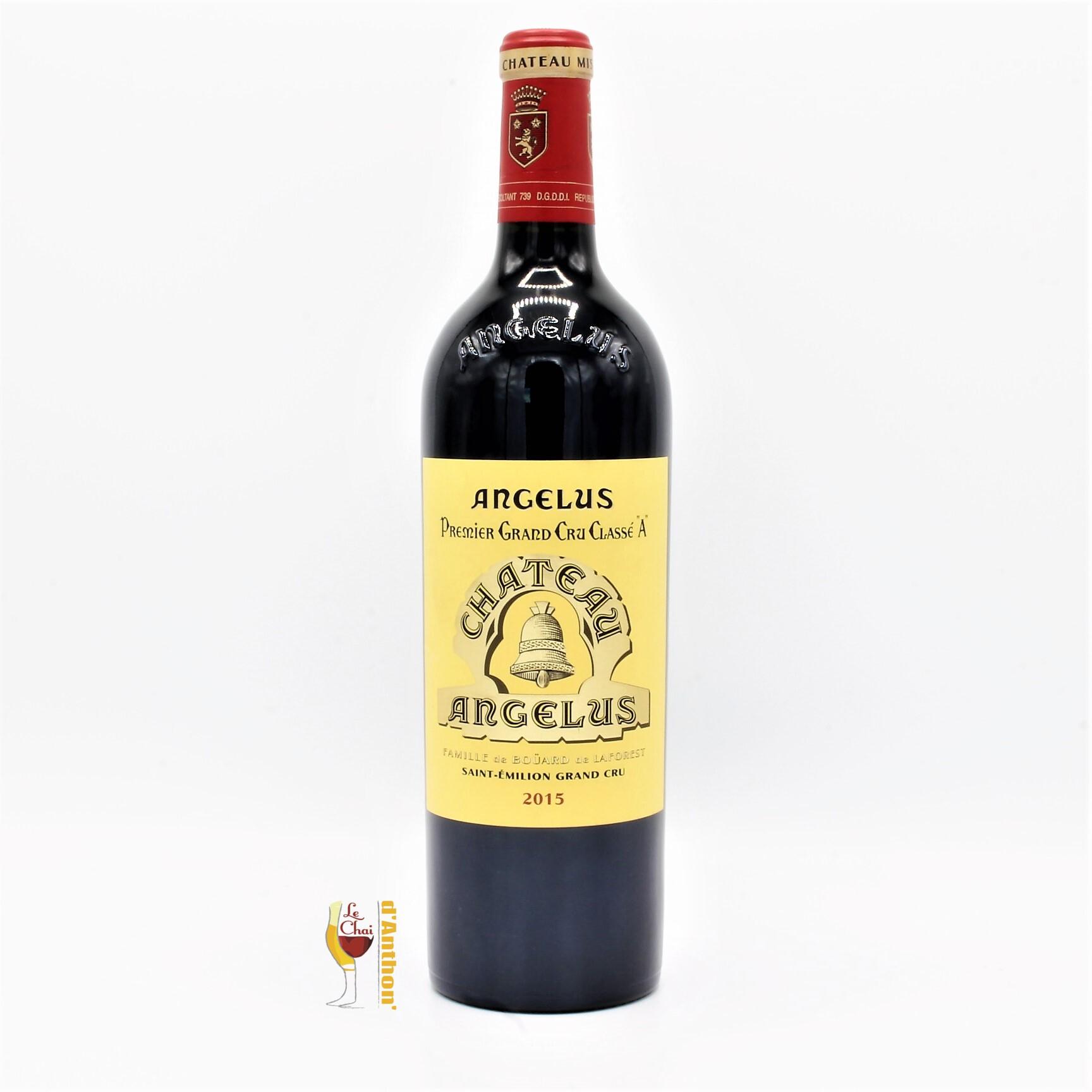 Vin Bouteille Rouge Bordeaux St Emilion Grand Cru Angelus 2015 75cl