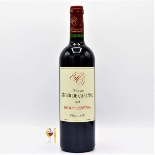 Vin Bouteille Rouge Bordeaux St Estephe Segur De Cabanac 2017 75cl