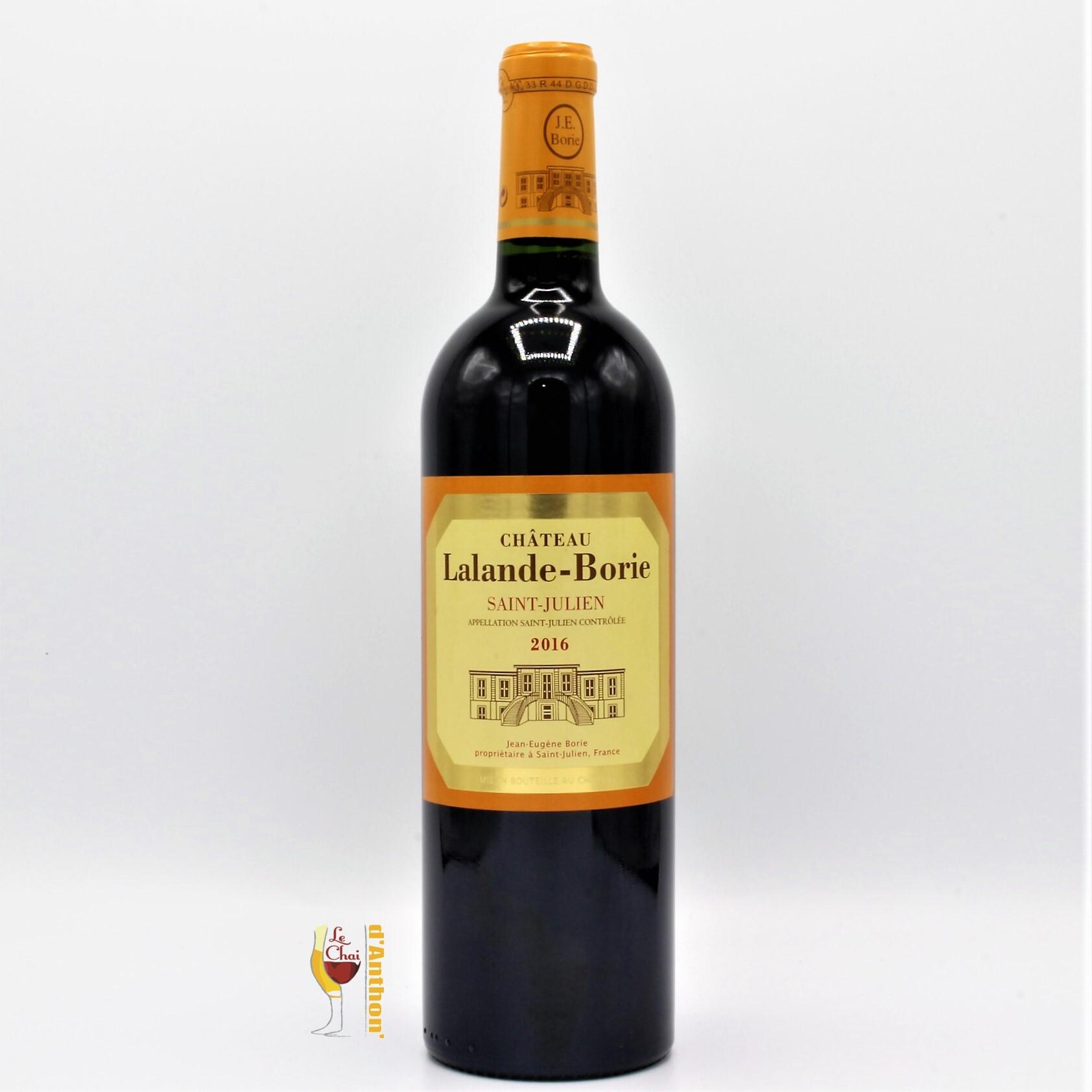 Vin Bouteille Rouge Bordeaux St Julien Lalande Borie 2016 75cl