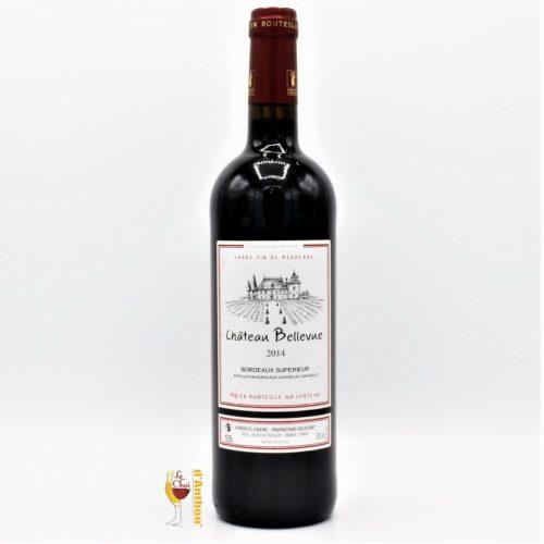 Vin Bouteille Rouge Bordeaux Superieur Bellevue 75cl