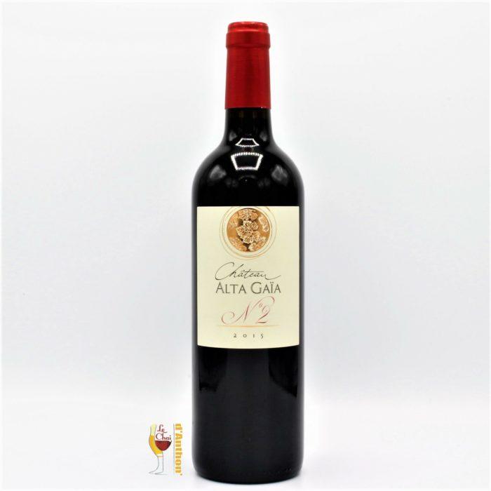 Vin Bouteille Rouge Bordeaux Superieur N2 Alta Gaia 75cl