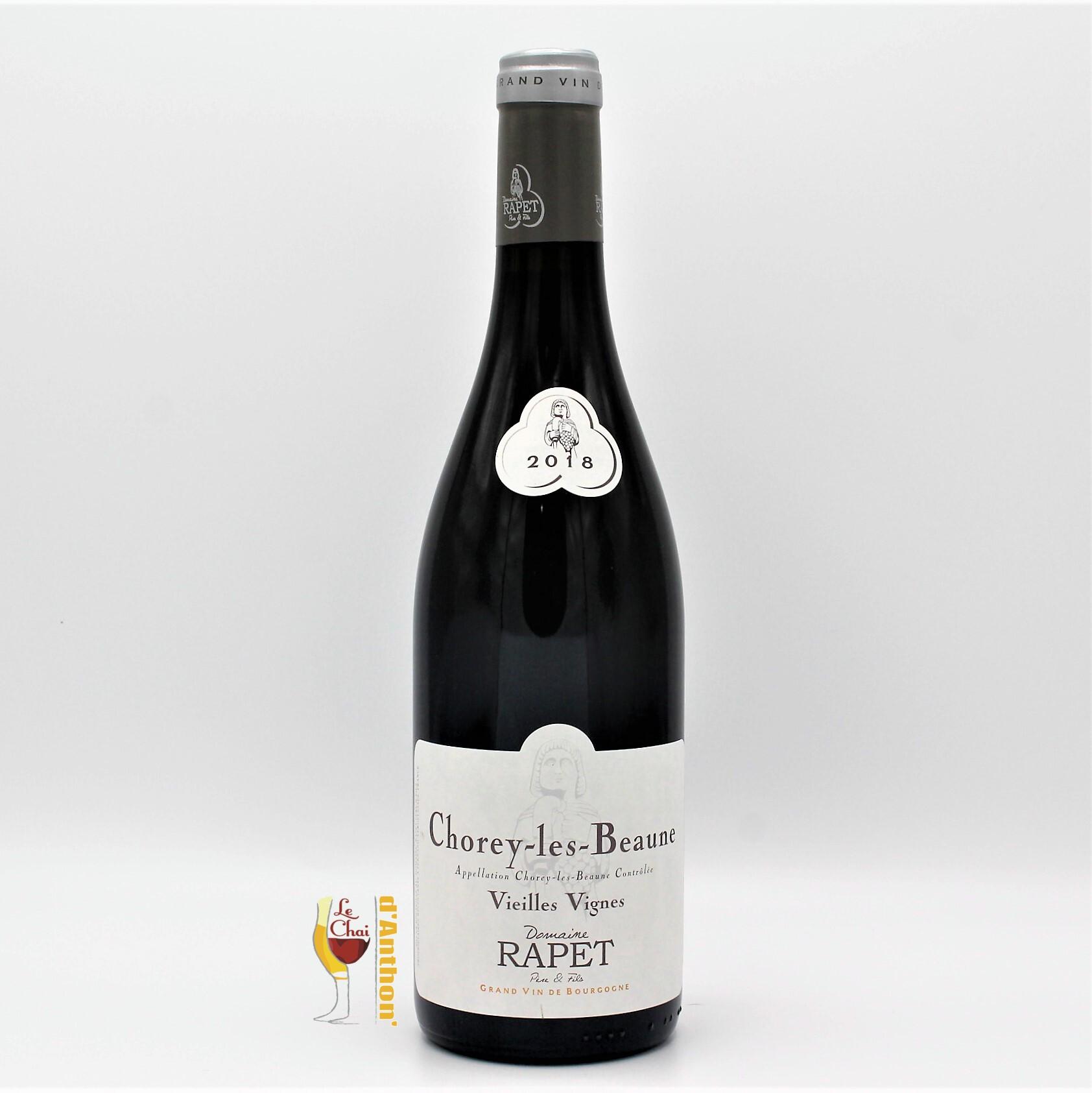 Vin Bouteille Rouge Bourgogne Chorey Les Beaune Rapet 75cl