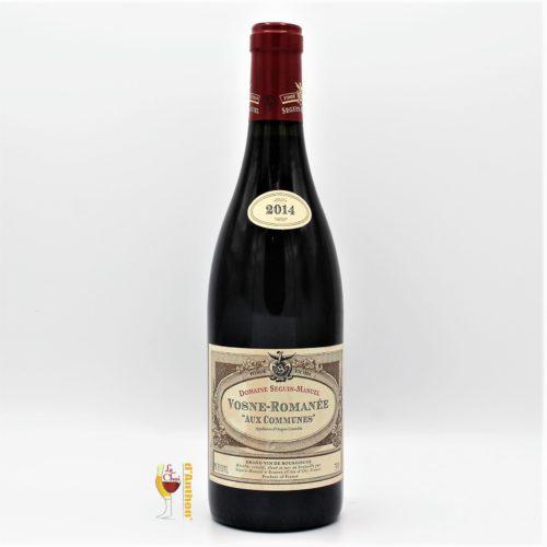 Vin Bouteille Rouge Bourgogne Vosne Romanee Aux Communes 2014 75cl