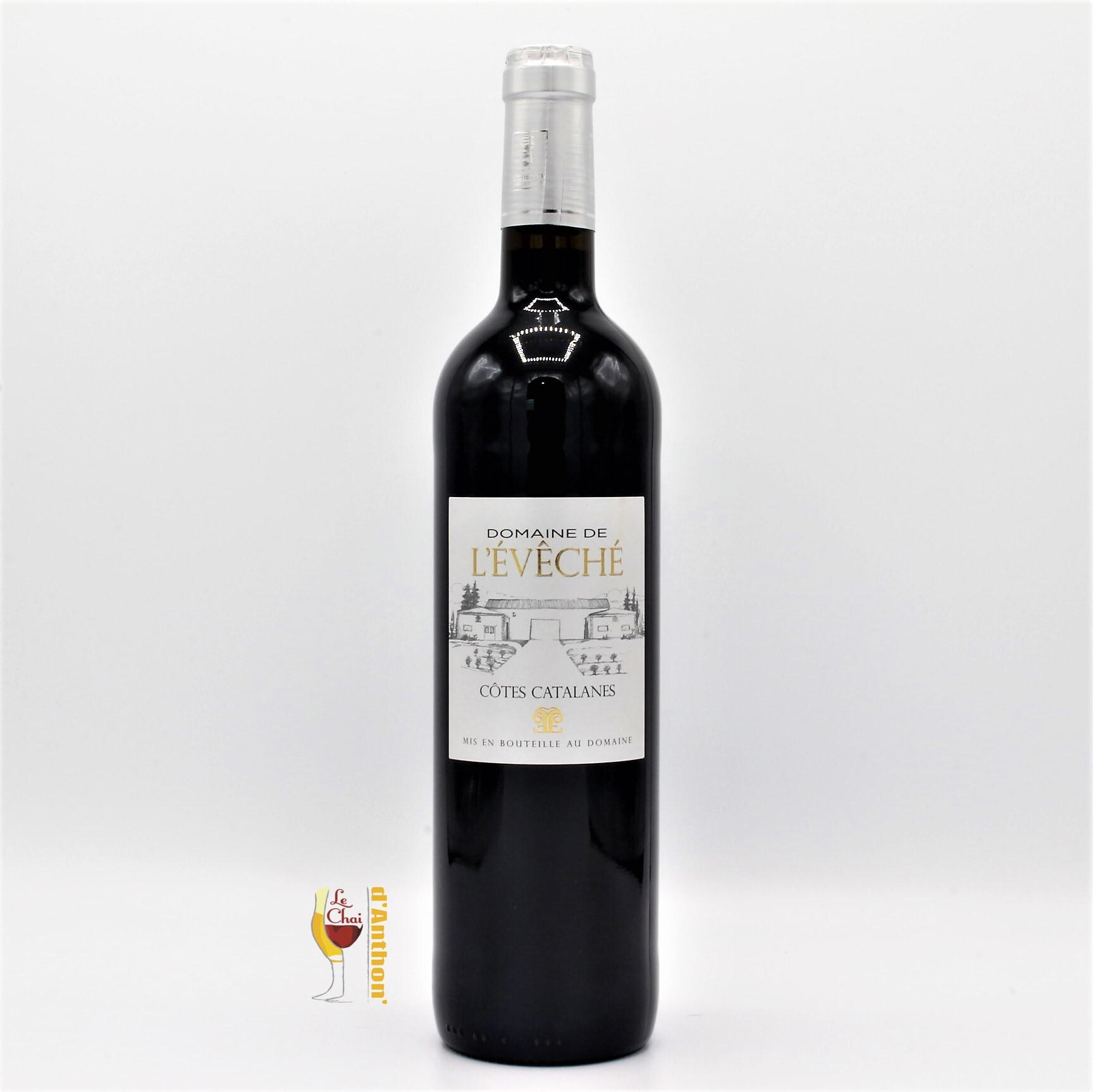 Vin Bouteille Rouge Languedoc Cotes De Catalanes Eveche 75cl