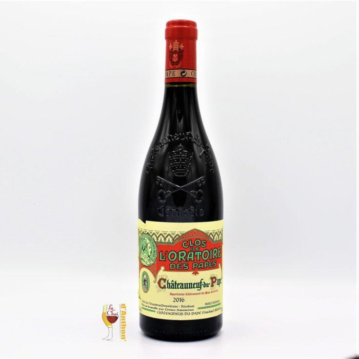 Vin Bouteille Rouge Rhone Chateauneuf Du Pape Clos De L Oratoire Des Papes 2016 75cl