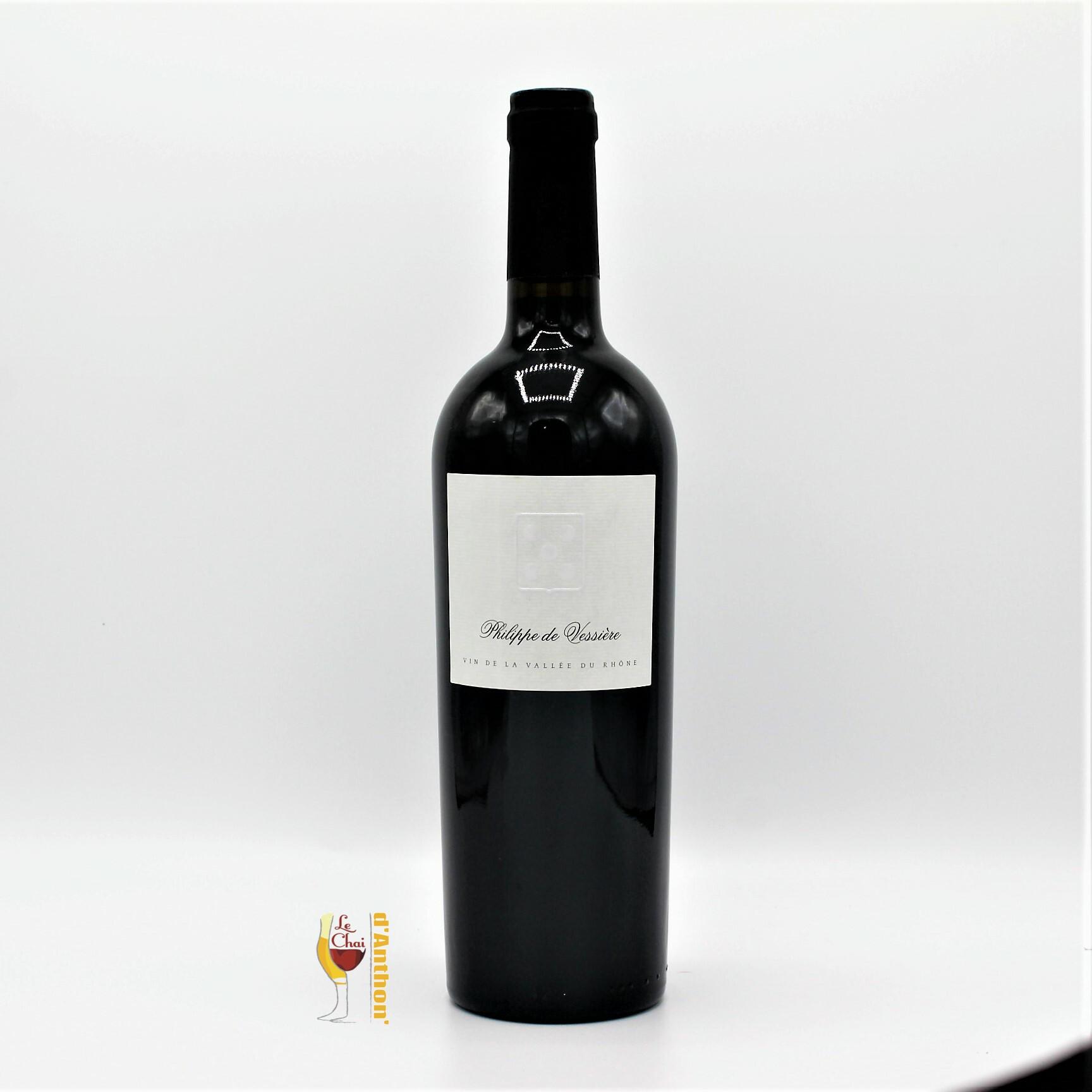 Vin Bouteille Rouge Rhone Costieres De Nimes Philippe De Vessiere 75cl