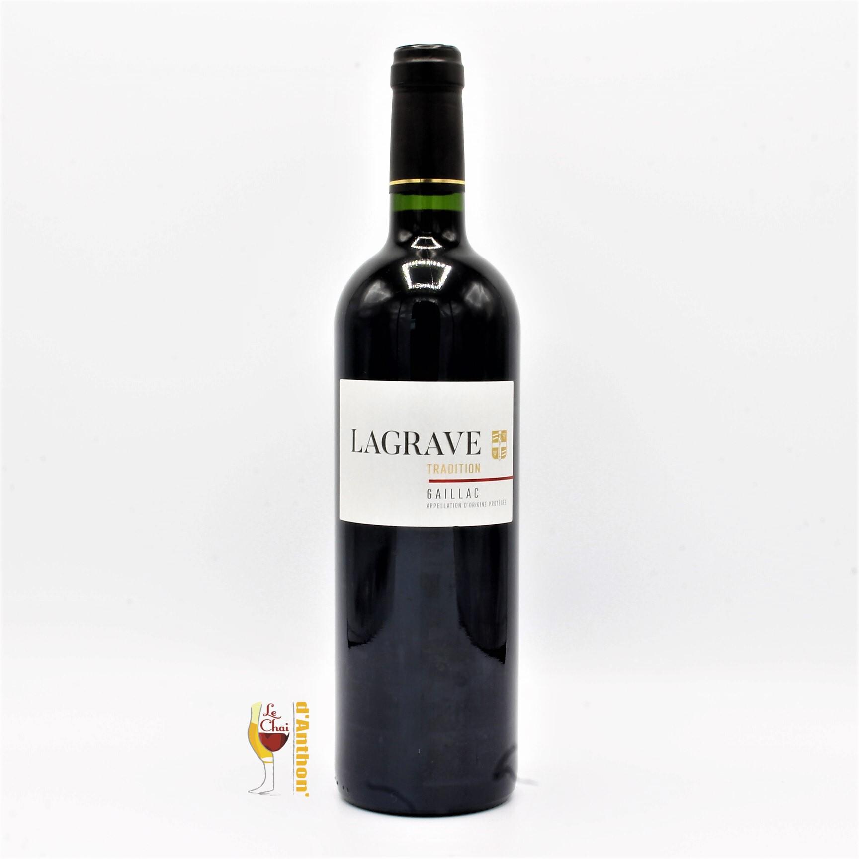 Vin Bouteille Rouge Sud Ouest Gaillac Tradition Terroir De La Lagrave 75cl