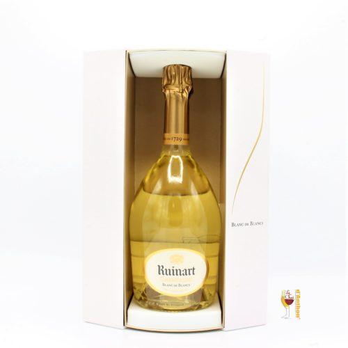Vin Effervescent Bouteille Champagne Blanc De Blanc Ruinart Coffret 75cl