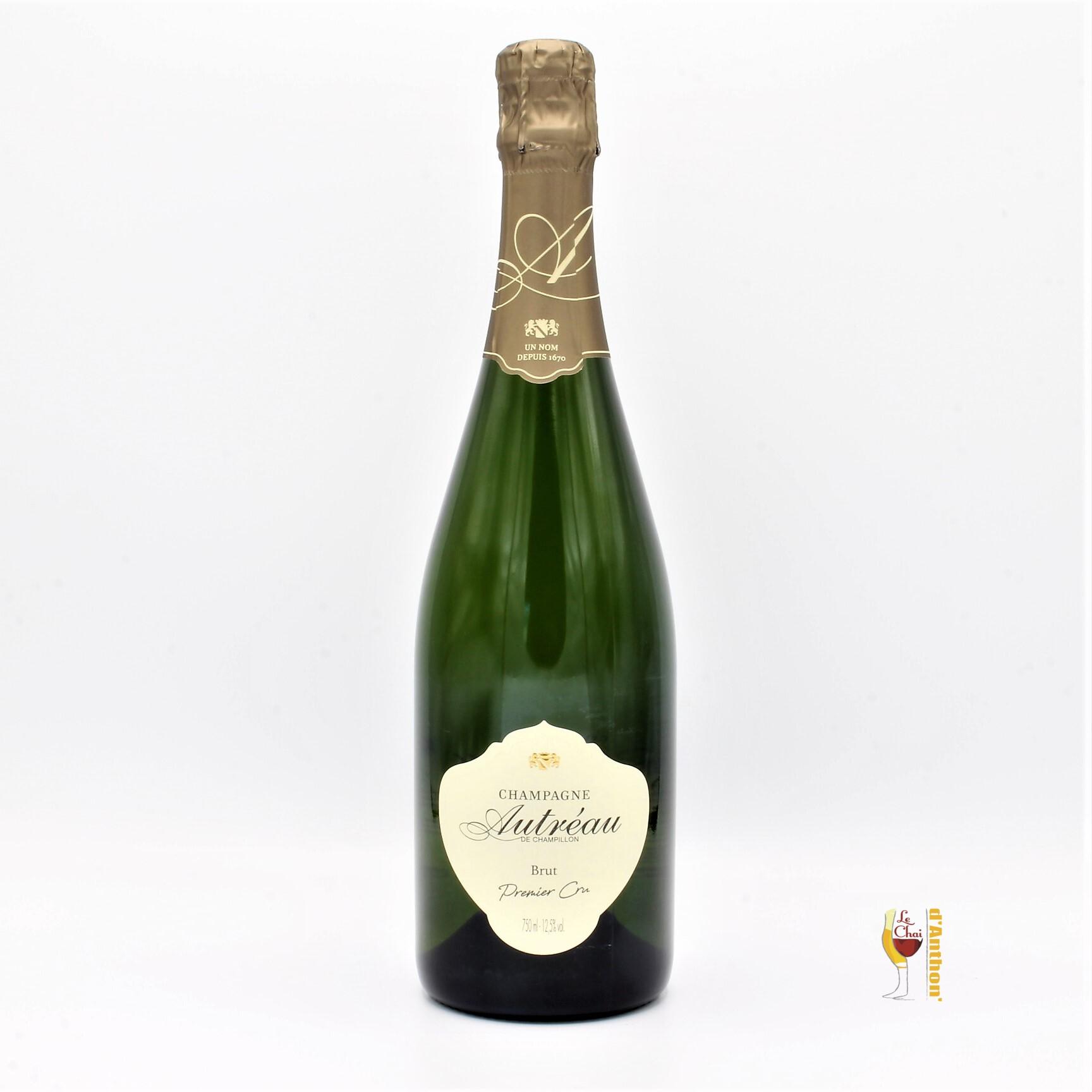 Vin Effervescent Bouteille Champagne Brut Autreau 75cl