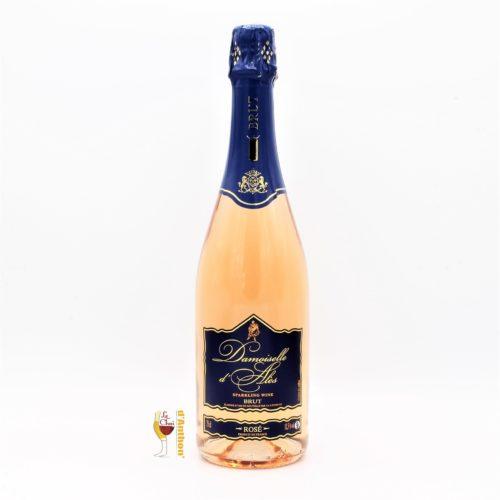 Vin Effervescent Bouteille Ve Rosé Damoiselle Ales 75cl