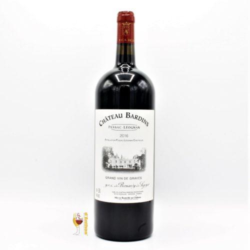 Vin Magnum Grand Format Rouge Pessac Leognan Bardins 2016 150cl