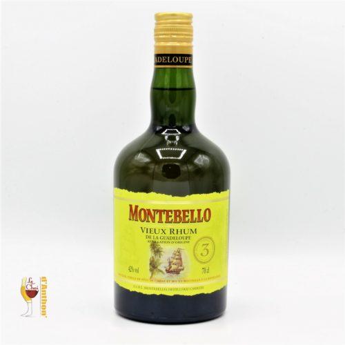 Spiritueux Rhum Ambre Agricole Guadeloupe Montebello 3 Ans 70cl
