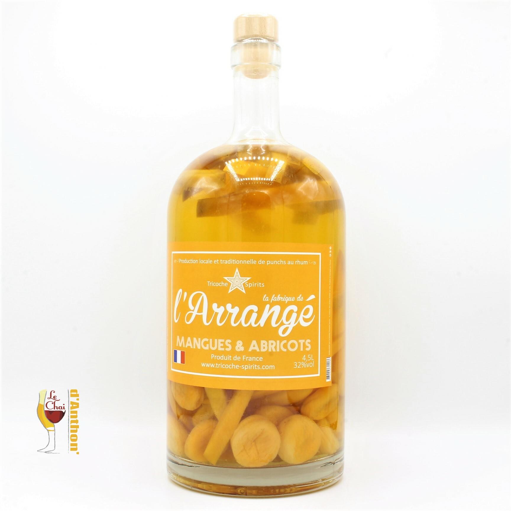 Spiritueux Rhum Arrange Tricoche Mangue Abricot 4,5l