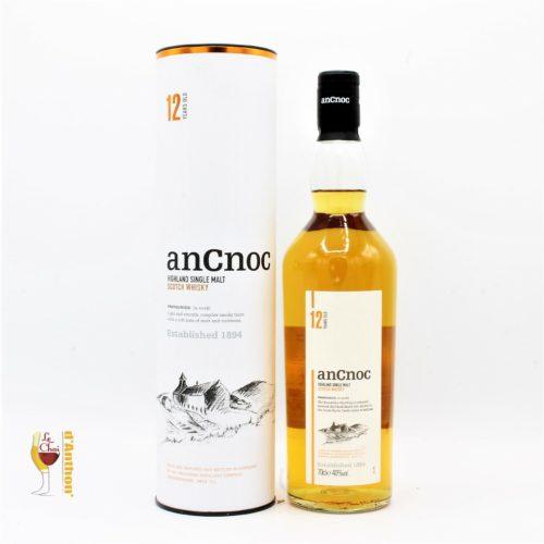 Spiritueux Whiskies Scotch Single Malt Ancnoc 12 Ans 70cl