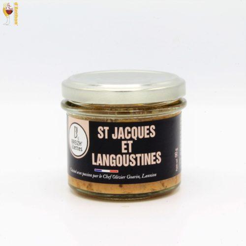 Conserverie Lannion Saint Jacques Et Langoustines 90 Gr Breizh ' Illettes