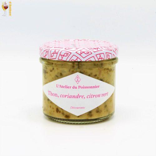 Tartinable De Thon Coriandre Citron Vert 90 Gr L'atelier Du Poissonnier