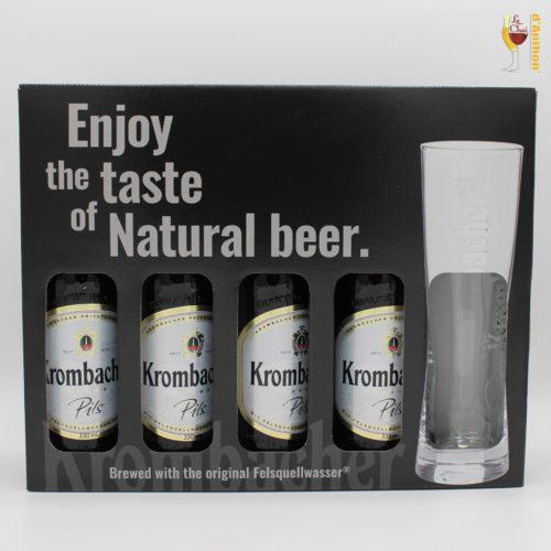 Bières Coffret 4 Krombacher 1 Verre